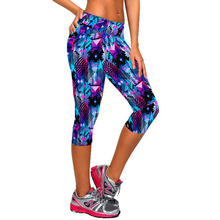 Buy 2017 Women Fitness High Waist Sporting Capri Cropped Leggings Workout Bodybuilding Gymming Runs Pants Exercise Yogaing Clothing for $7.98 in AliExpress store