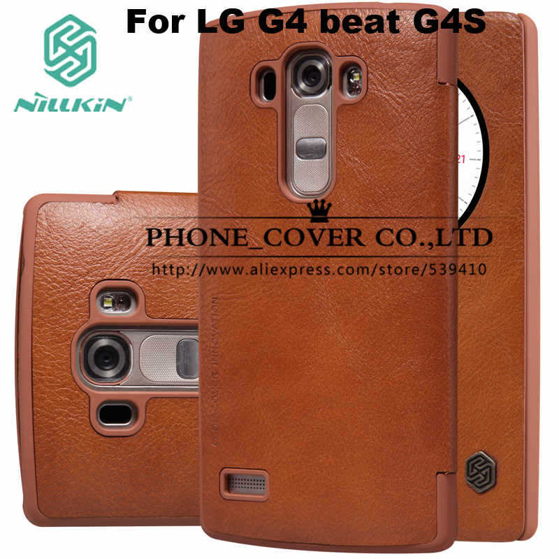 "Гаджет  Nillkin Genuine Wallet Leather Case cover For LG G4 Beat / G4 S / G4S 5.2"" phone bags skin cases for lg G4S + screen protectors None Телефоны и Телекоммуникации"