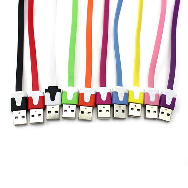 Short Flat noodle Fast USB Sync Data Charger Cable for iPhone 4 4S 3GS 3G for Ipod Multi Color(China (Mainland))