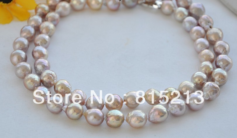 ddh00794 Lavender 10-11mm round keshi reborn freshater pearl necklace 33inch 28% Discount<br><br>Aliexpress