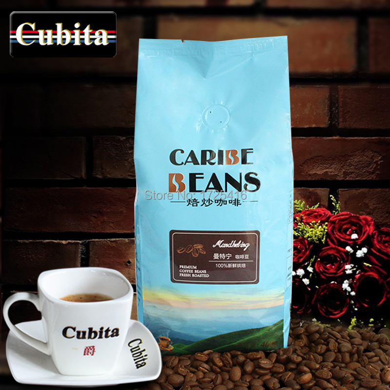 Mouthful coffee beans imported from 460 g fresh roasted can now MoHei coffee powder free shipping