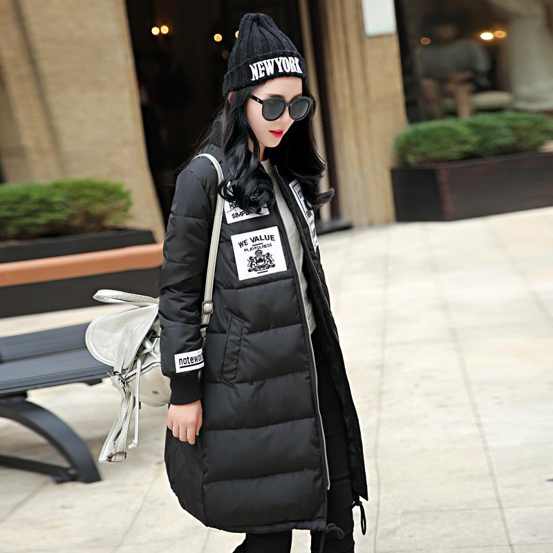 spring new winter long female Korean embroidery labeling drawstring down cotton women jacket warm slim outwear padded coatОдежда и ак�е��уары<br><br><br>Aliexpress