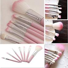New7Pcs Pro Pink Makeup Brush Set Eyeshadow Cosmetic Tools Eye Face Beauty Brushes 4JIA