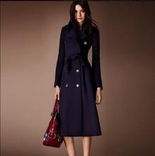 Denim Jacket Jacket Women Jaqueta Feminina Free Shipping 2015 New Winter Wool Coat Female Korean Knee In The Long Slim Dress