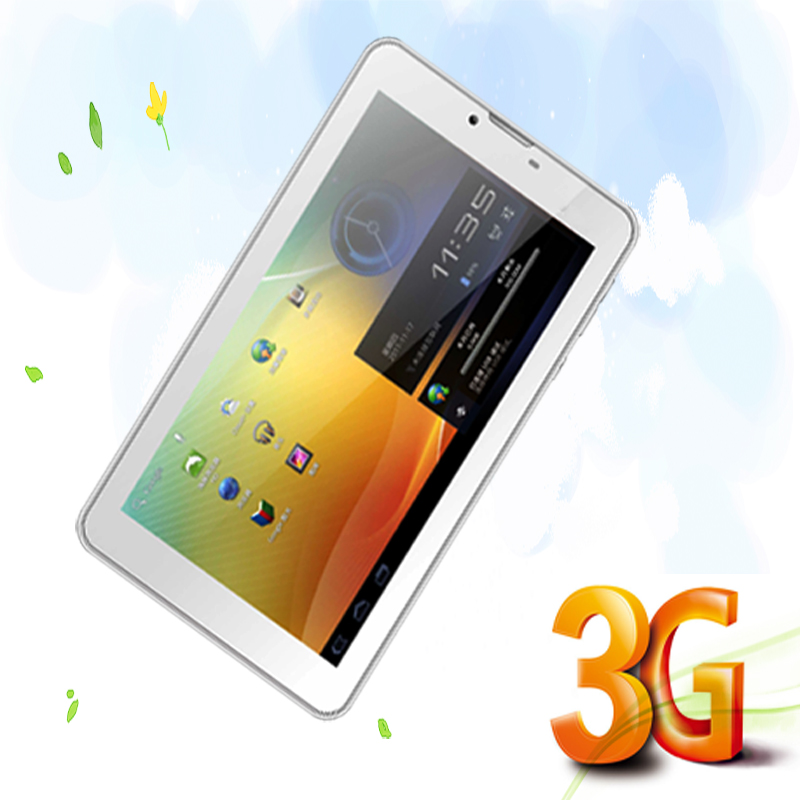 Design Nice 7 Inch Phone Call Tablet Dual Camera Dual Core Dual SIM Card 2G 3G Call And Internet WIFI FM Gold and Silver Color(China (Mainland))
