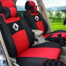 Ventiler broderie logo en housse de siège pour renault fluence latitude talisman laguna housse de siège de voiture avec 2 oreillers cervicaux