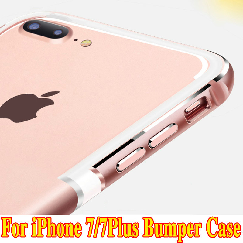 1Pcs Brand 2016 Metal Frame UltraThin Silicone Bumper Cover For iPhone7 6s Luxury Aluminum Bumper Case Apple iPhone 7 7Plus(China (Mainland))