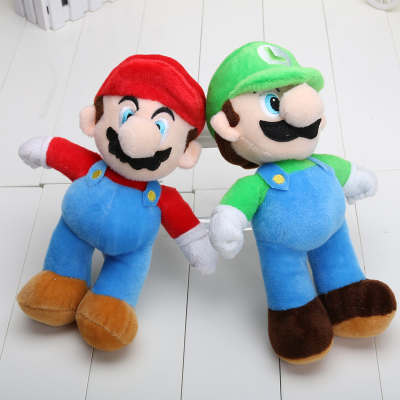 Super Mario Luigi Plush Toy Doll 25cm 10inch High Quality baby toy super mario plush toys(China (Mainland))