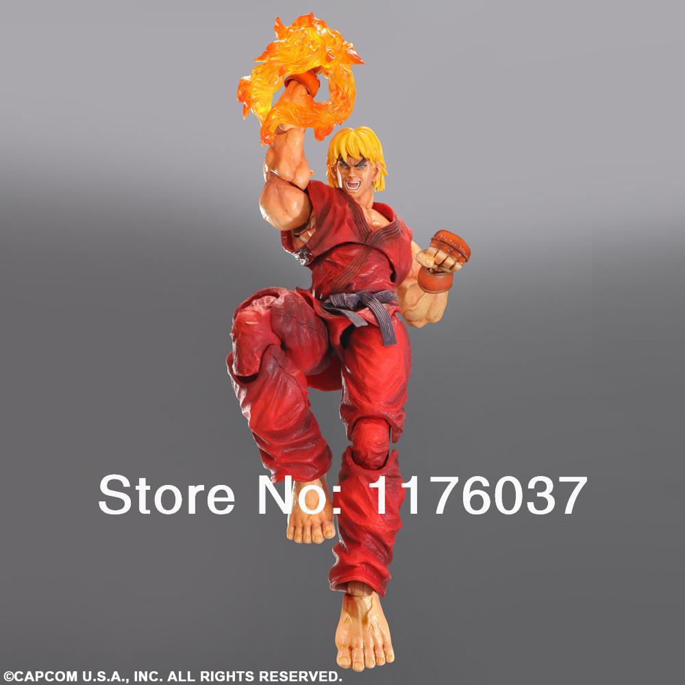 Famous Game Square Enix Super Street Fighter 4 IV Play Arts Kai Vol.4 KEN 23CM PVC Action Figure Toys