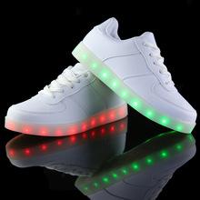 Led shoes for adults women casual shoes woman USB led luminous shoes man canvas 2015 new fashion Led light shoes