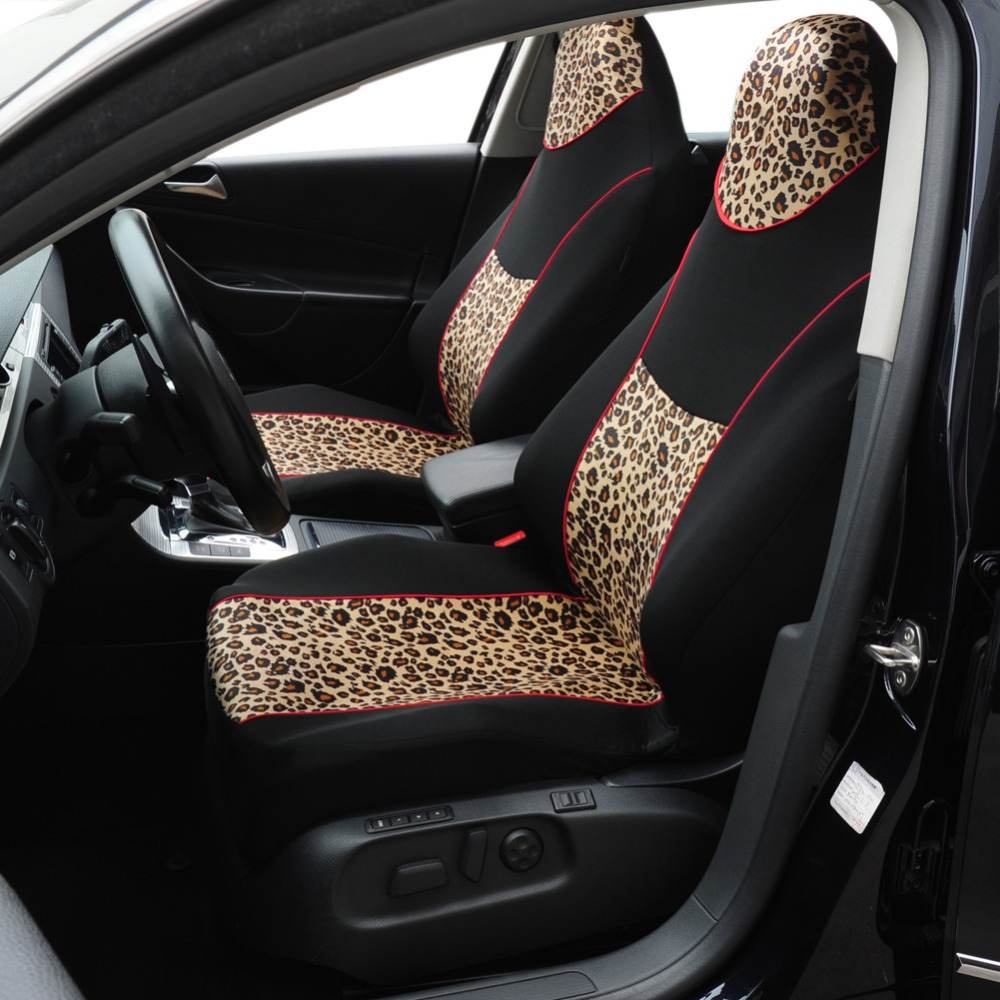 buy autoyouth leopard animal print integrated high back bucket seat covers. Black Bedroom Furniture Sets. Home Design Ideas