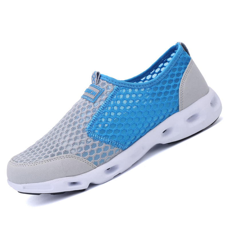 Size 35-44 2016 Summer women&men casual shoes Portable breathable mesh outdoor shoes Slip-on loves shoes X160(China (Mainland))