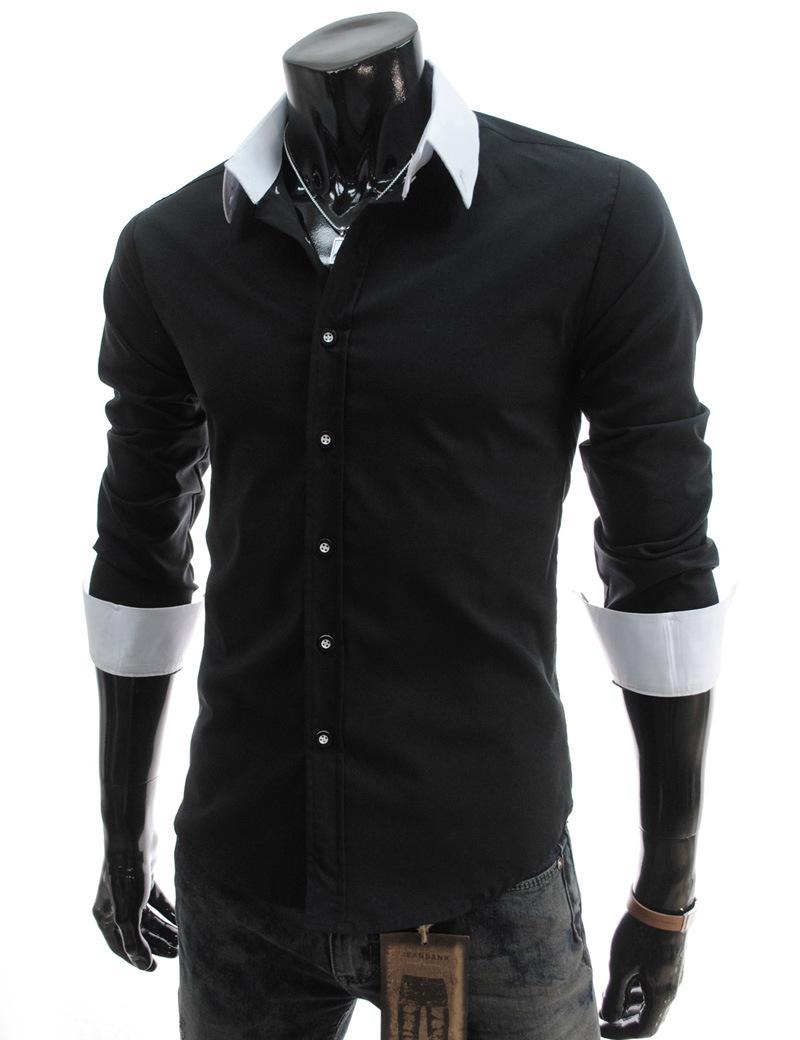 Fashion cheap men shirt casual fashion men slim fit blouse for Cheap slim fit shirts