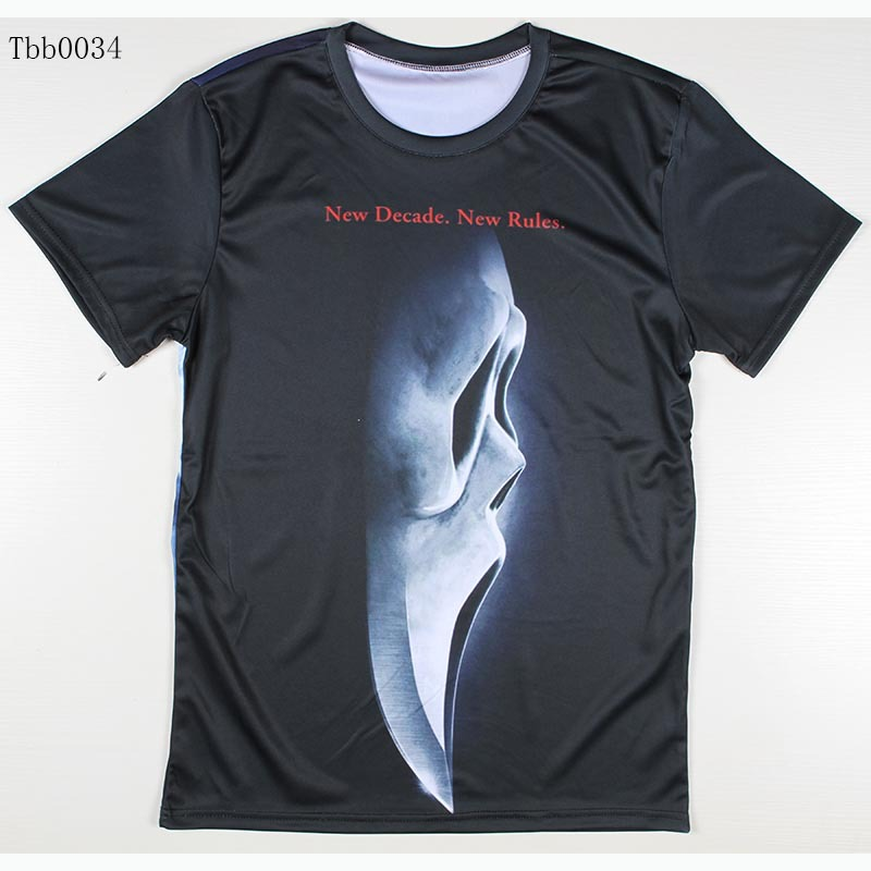 New Fashion Printing Abstract t-shirt Men Casual 3D T Shirt woLf/lizard/Spider-Man/Ghost/amazing/game of thrones t shirt(China (Mainland))