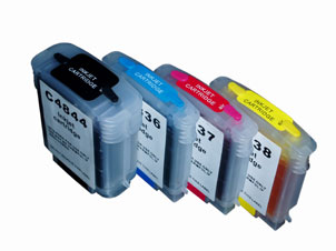 1Set Refillable Ink Cartridge for HP 10 11 For HP Inkjet 1000/1100/1200/2200/2300/2230/2250/2280/2600//2800/9100/9110/9120/9130(China (Mainland))
