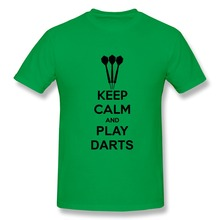 Short Sleeve Cotton Keep Calm And Play Darts Exercise t-shirt For Men 2015 Top Designer Men 3D t-shirt at Manufacturing Price