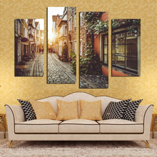 Buy European Town Street Landscape Decorative Paintings Modern Romantic Living Room Wall Pictures Painting By Numbers No Frame for $8.21 in AliExpress store