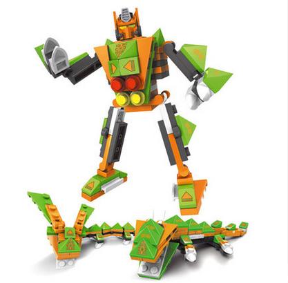 Minifigure Robot building block magic assembled inserted toy Model Transformation 3DDIY brick enlighten Children educational toy(China (Mainland))