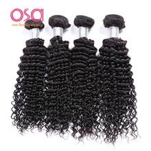 OSA Beauty Malaysian Curly Hair Weaves Malaysian Virgin Hair Deep Wave 4Bundles Lot Modern Show Hair Malaysian Human Hair Weave(China (Mainland))
