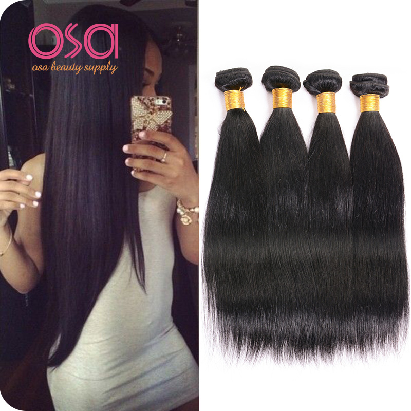 Mink Brazilian Hair Kinky Straight Rosa Hair Products 4Bundles Lot Brazilian Virgin Hair Straight Unprocessed Human Hair Weave