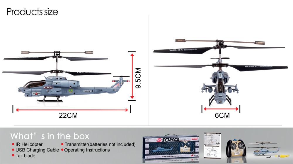 Syma S102G/S108G/S109G/S111G 3CH GYRO RC Attack Helicopter RTF Quadcopter LED Lights Remote Control Aircraft Toys