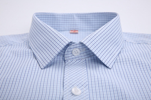 2015 New Business Casual Long Sleeve Turn down Collar Striped Plaid Men Dress Shirts Men Clothes