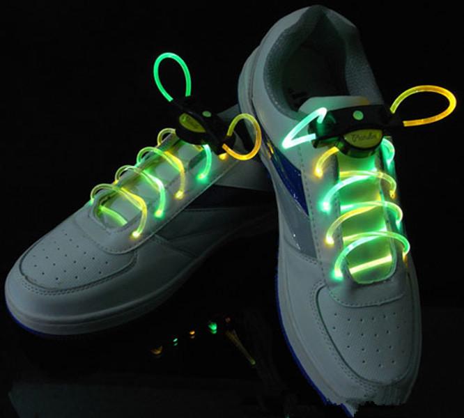 2016 Shoe Lace Multicolor Led Shoelaces Optical Fiber Party Skating Charming Light Up Shoelaces For Women & Men Shoes 80x0.28cm(China (Mainland))