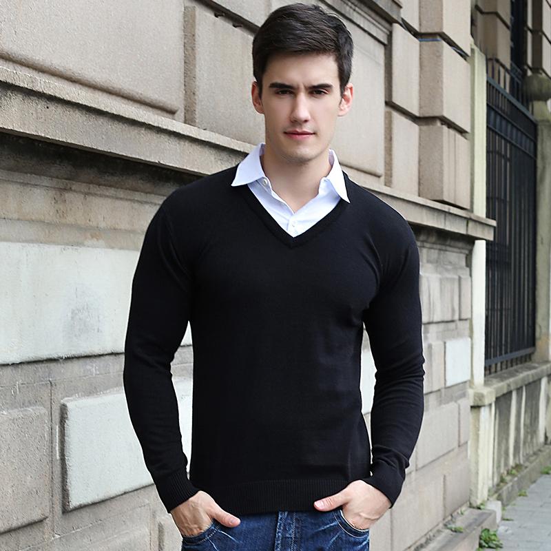 Turn-down Collar Hot sale Sweaters Spring Merino Mens ...