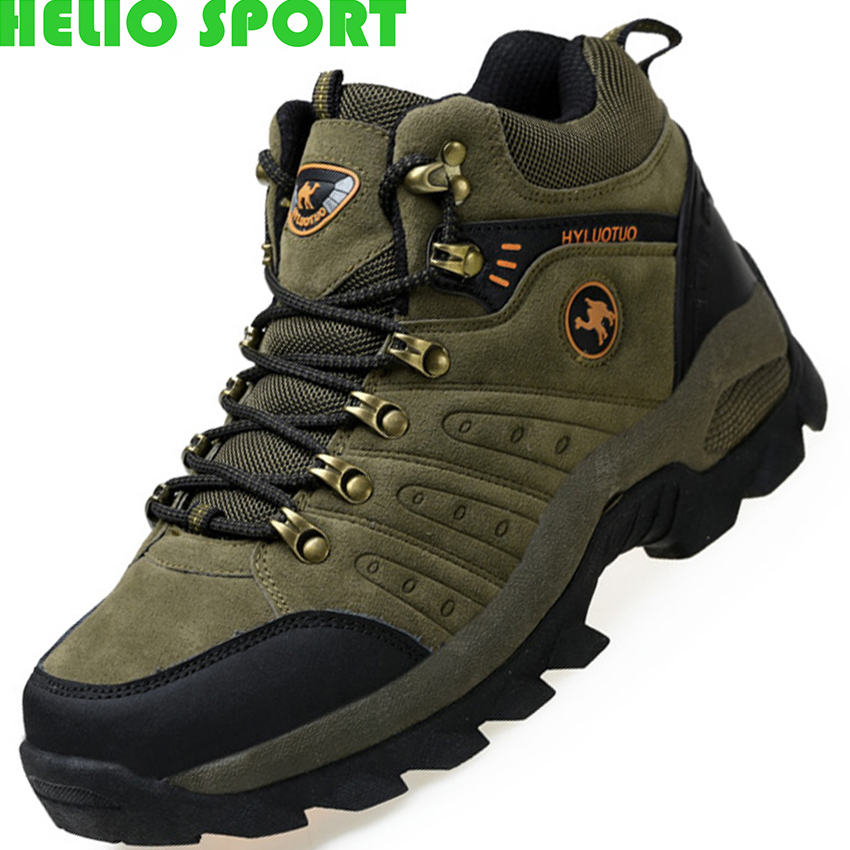 hiking shoes outdoor men sneakers men's autumn and winter high-top shoes plush warm