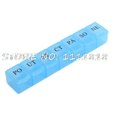 Plastic Translucent Letters Printed Case Box Container Light Blue for Components(China (Mainland))