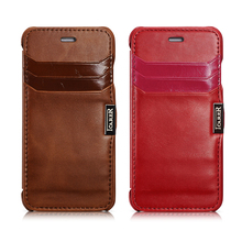 ICARER Luxury Retro Genuine Leather Case For iPhone6 6s 4.7inch Card Slots Flip Cover Premuim Quality Cellphone Case