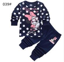 Buy New kids girls pajamas sets Minnie Princess pyjamas kids pijama infantil sleepwear home clothing cartoon cotton Baby pijama 2-7Y for $6.80 in AliExpress store