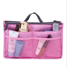 2016 Women Makeup Organizer Bag Handbag Purse Large liner Travel Insert Lady Casual Cosmetic Bag Travelling Bag Multifunction(China (Mainland))