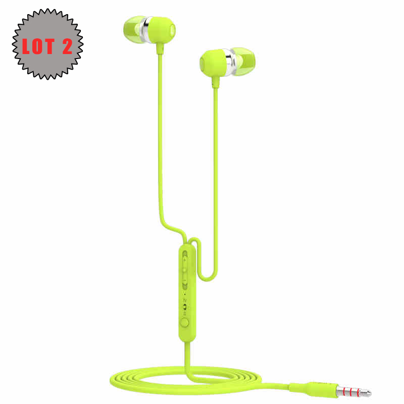 Lot 2 UiiSii U3 Earphones with Microphone 3 5mm Surround Sound Stereo Cute font b Earbuds