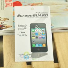 5pcs/Lot LCD Screen Protector THL W2+ Senior Clear style with Clean Cloth retail package(China (Mainland))