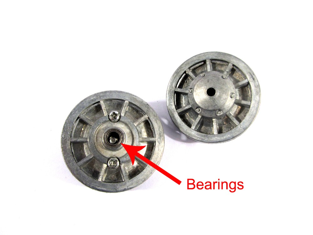 Mato Metal upgraded idler wheels parts Heng Long 3818-1 1/16 1:16 RC Tiger tank model bearings - Outlet store