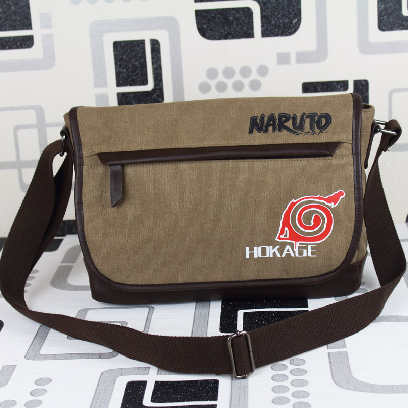 Free shipping latest fashion One shoulder package Anime Naruto Messenger bags Recreational CRAZY HORSE Sports bag(China (Mainland))