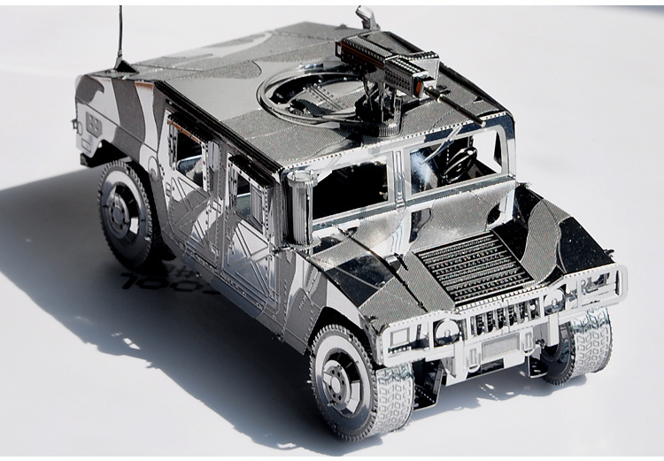 War gear Hummer H1 vehicle 3D Scale Models DIY Metallic Nano Puzzle Toys 2015 Hot sale Free Shipping Spain Brazil Israel USA(China (Mainland))