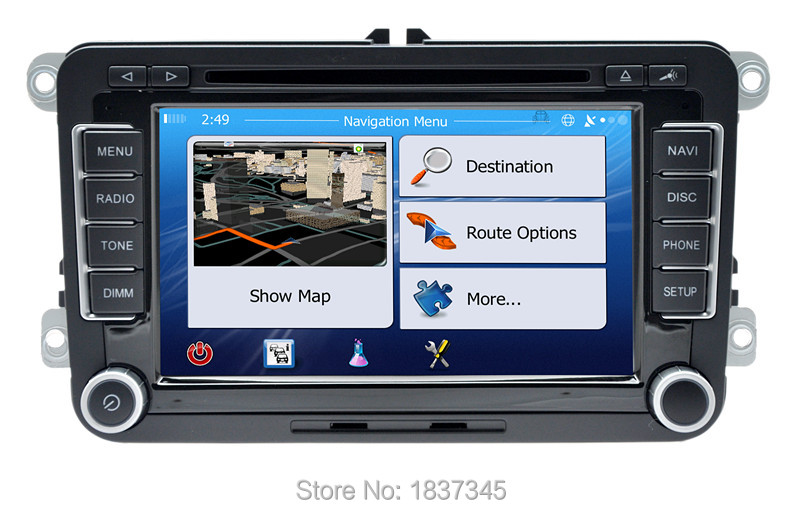 """7"""" Car GPS DVD 2 din radio player For VW/Volkswagen/Passat/GOLF/Skoda/Seat gps audio double din touch screen car stereo(China (Mainland))"""