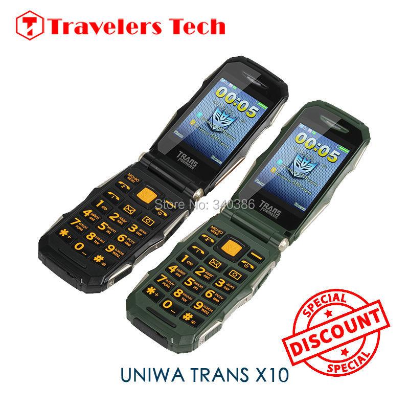 Cheap Flip Phone TRANS X10 Dual Screen 2.8 Inch Small Size Senior Mobile Phone 4800mAh Big Battery with Russian Language X9(China (Mainland))