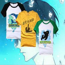 Cosplay Free! Iwatobi Swim Club Haruka Nanase/Makoto Tachibana Costume Cotton T-shirts Sportswear Coat Fancy Dress Free Shipping