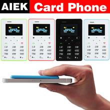 Ультратонкий карты мобильного телефона 4.8 мм AIEK M5 AEKU M5 SOYES X6 низкая радиация мини-дети карманные студенты личности телефон