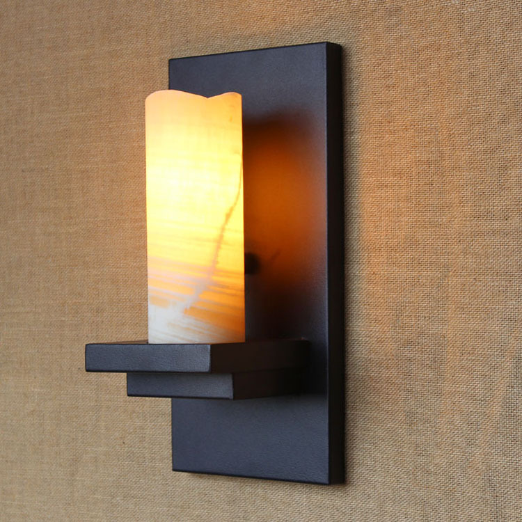 Retro Vintage Edison Wall Lamp Loft Wall Sconce Candle Holder Style Bedside Wall Light Antique Lamp E27 Indoor Lighting Stone(China (Mainland))