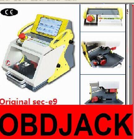 2016 100% Original automatic key cutting machine SEC-E9 portable smart duplicate car key cutting machine SEC E9 Multi-Language(China (Mainland))