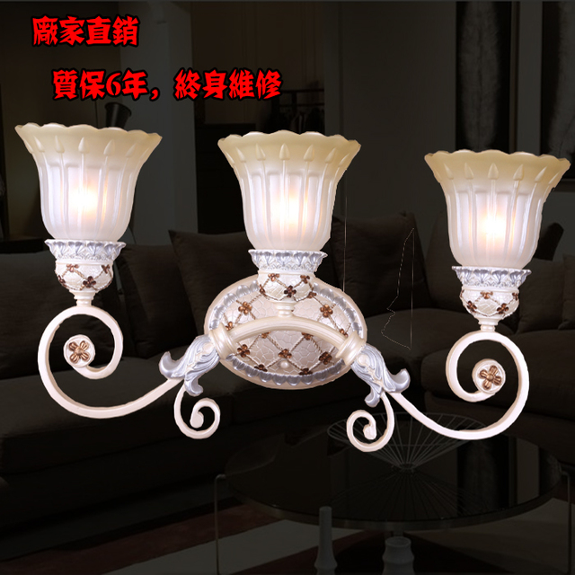 Fashion wall lamp brief study light american style mirror light antique lamps resin antique lighting
