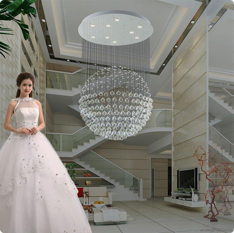 Free shipping Spherical ball chandelier crystal lamp living room lamp white LED light K9 Crystal Lighting Brushed<br><br>Aliexpress