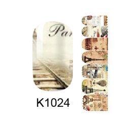Popular design nail sticker manicure nail art decoration plastic nail art K1024 fingernail stickers with adesivo de unha(China (Mainland))