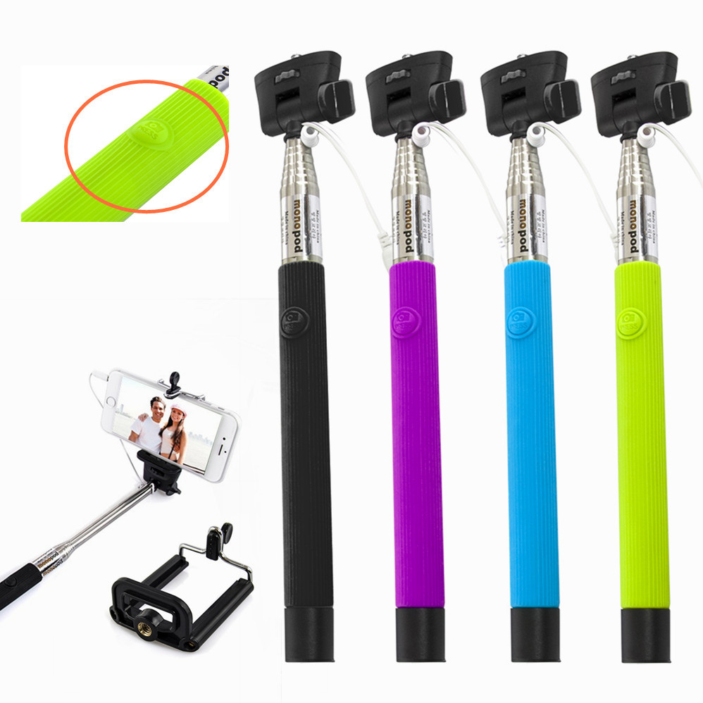 For travel life! Z07-5 plus Extendable Handheld Monopod Audio cable wired Selfie Stick take photos for IOS Android smart phone(China (Mainland))