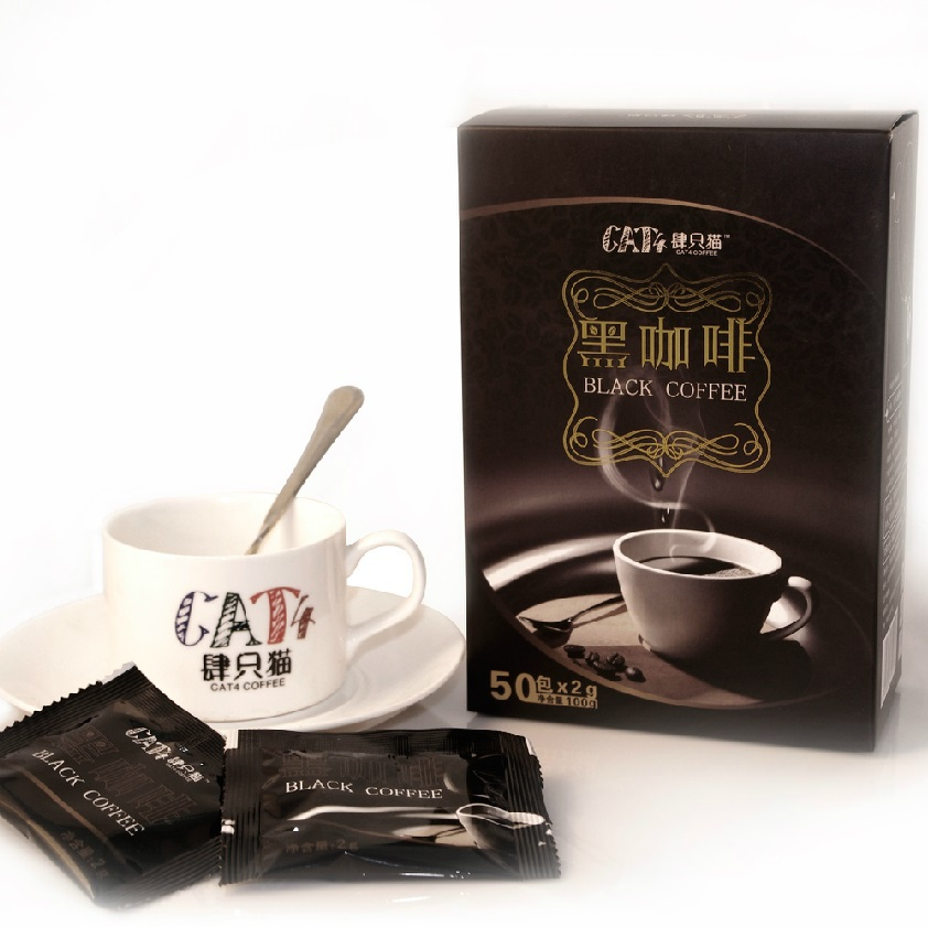 Black coffee instant pure powder without sugar and milk in yunnan small grain of special 100