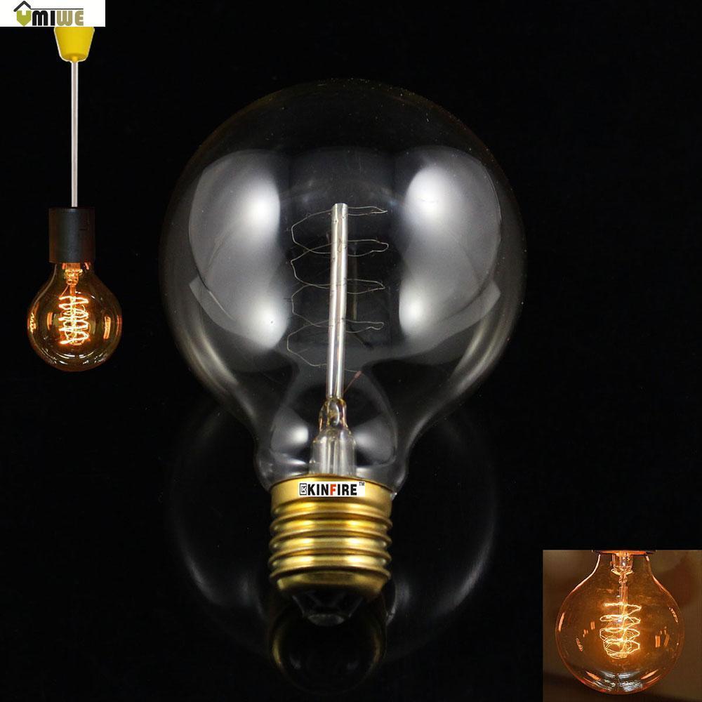 Umiwe KINFIRE G80 E27 40W Vintage Antique Light Bulb Edison Style Tungsten Filament Lamp for Bar Club (AC 220V)(China (Mainland))